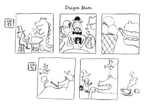Dragon Mum, comic, 2014