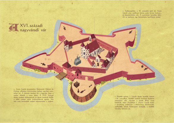 Information graphics with illustration, Castle of Oradea, 2015