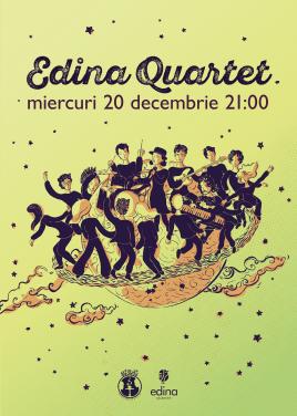 Poster design and illustration, Edina Quartet concert, 2018