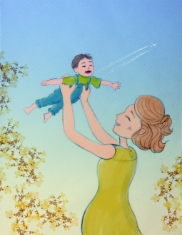 Illustrations on becoming a mother (7/7), 2019